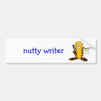 pegatina para el parachoques de nuez del escritor pegatina para auto