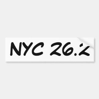 Pegatina para el parachoques de NYC 26,2 Pegatina Para Auto