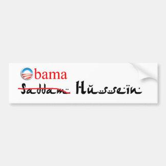 Pegatina para el parachoques de Obam Hussein Pegatina De Parachoque
