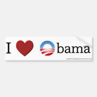 """Pegatina para el parachoques de Obama """"amo a Obama Pegatina Para Auto"""