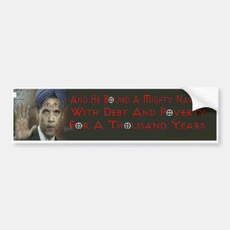 Pegatina para el parachoques de Obama Anti-Cristo Pegatina De Parachoque