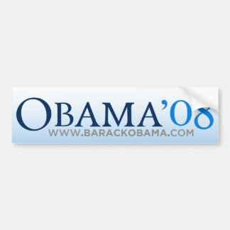 Pegatina para el parachoques de Obama Biden 08 Pegatina Para Auto