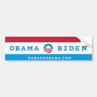 Pegatina para el parachoques de Obama Biden rojo Pegatina De Parachoque