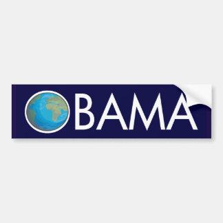 Pegatina para el parachoques de Obama de la tierra Pegatina Para Auto
