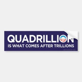 Pegatina para el parachoques de Obama del cuatrill Pegatina Para Auto