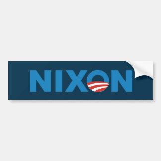 Pegatina para el parachoques de Obama Nixon Etiqueta De Parachoque