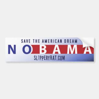 """Pegatina para el parachoques de Obama """"Nobama"""" Pegatina De Parachoque"""
