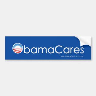 Pegatina para el parachoques de ObamaCares (azul d Pegatina Para Auto