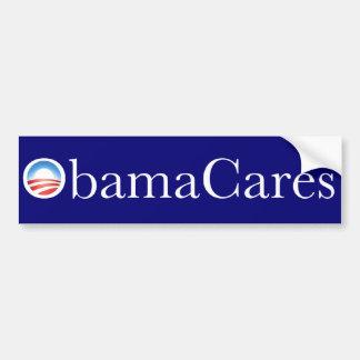 Pegatina para el parachoques de ObamaCares Etiqueta De Parachoque
