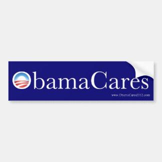 Pegatina para el parachoques de ObamaCares Pegatina De Parachoque