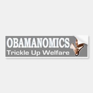 Pegatina para el parachoques de Obamanomics Pegatina De Parachoque