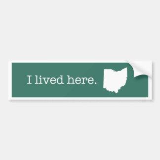 Pegatina para el parachoques de Ohio Pegatina Para Auto
