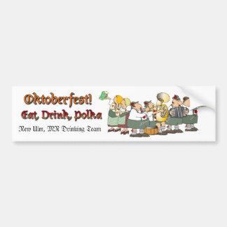 Pegatina para el parachoques de Oktoberfest Etiqueta De Parachoque