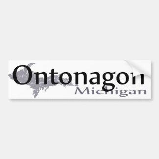 Pegatina para el parachoques de Ontonagon Michigan Pegatina Para Auto