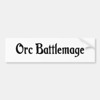 Pegatina para el parachoques de Orc Battlemage Pegatina De Parachoque