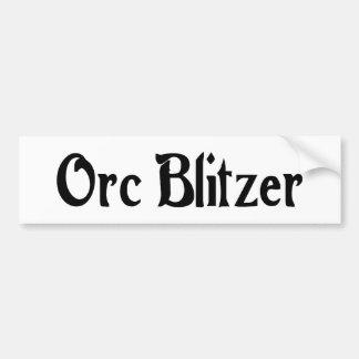 Pegatina para el parachoques de Orc Blitzer Pegatina De Parachoque