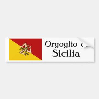 Pegatina para el parachoques de Orgoglio di Sicili Pegatina Para Auto