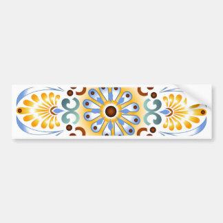 Pegatina para el parachoques de oro de la mandala etiqueta de parachoque