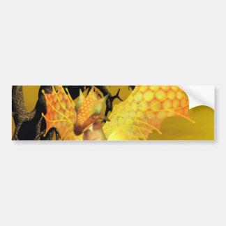 Pegatina para el parachoques de oro del dragón etiqueta de parachoque