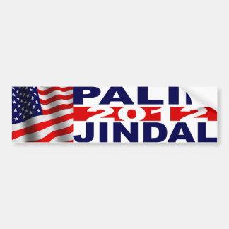 Pegatina para el parachoques de Palin/Jindal Pegatina Para Auto
