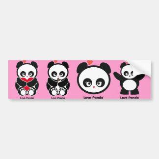 Pegatina para el parachoques de Panda® del amor Pegatina De Parachoque