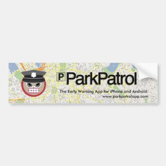 Pegatina para el parachoques de ParkPatrol Pegatina De Parachoque