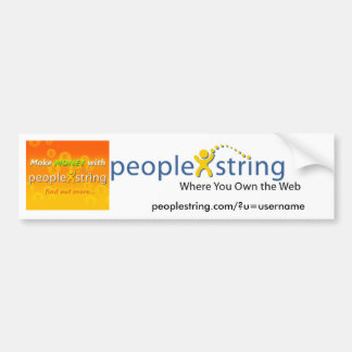 Pegatina para el parachoques de PeopleString Pegatina Para Auto
