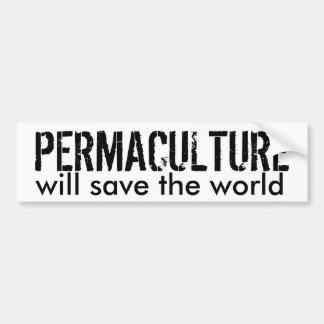 Pegatina para el parachoques de Permaculture Pegatina Para Auto