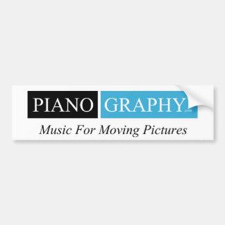 pegatina para el parachoques de PianoGraphy.com Pegatina De Parachoque