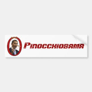 Pegatina para el parachoques de Pinocchiobama Pegatina De Parachoque