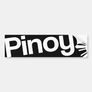 Pegatina para el parachoques de Pinoy Etiqueta De Parachoque