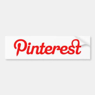 Pegatina para el parachoques de Pinterest Etiqueta De Parachoque