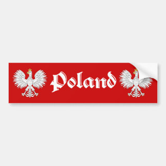 Pegatina para el parachoques de Polonia Pegatina Para Auto