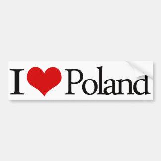 Pegatina para el parachoques de Polonia del corazó Pegatina De Parachoque