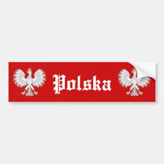 Pegatina para el parachoques de Polska Pegatina De Parachoque