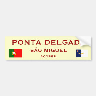 Pegatina para el parachoques de Ponta Delgada Pegatina Para Auto