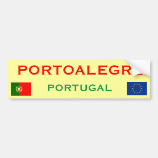 Pegatina para el parachoques de Porto Alegre (Port Pegatina Para Auto