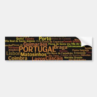 Pegatina para el parachoques de PORTUGAL Pegatina Para Coche