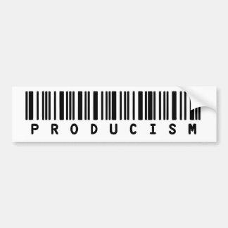 Pegatina para el parachoques de Producism Pegatina De Parachoque