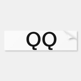 Pegatina para el parachoques de QQ Pegatina Para Auto