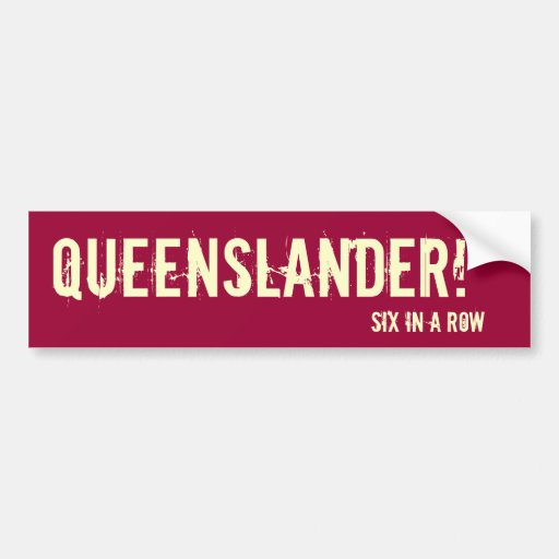 Pegatina para el parachoques de Queensland Pegatina De Parachoque