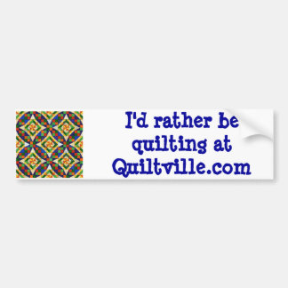 Pegatina para el parachoques de Quiltville Pegatina De Parachoque