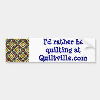 Pegatina para el parachoques de Quiltville Pegatina Para Auto