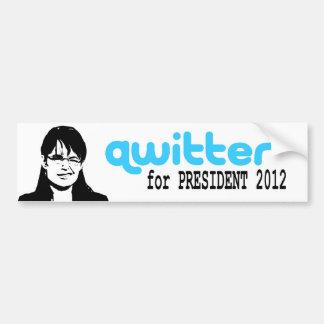 Pegatina para el parachoques de Qwitter Pegatina Para Auto