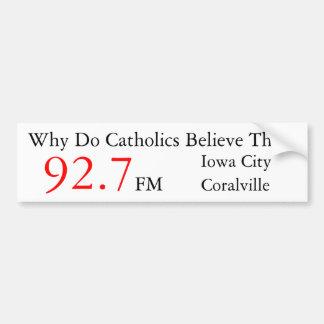 Pegatina para el parachoques de radio católica del pegatina para auto