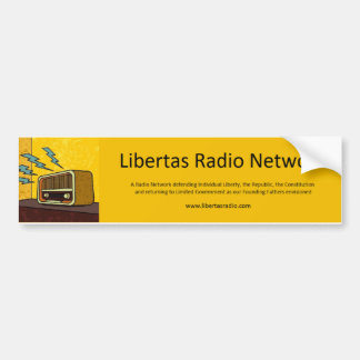 Pegatina para el parachoques de radio de Libertas Pegatina Para Auto