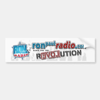 Pegatina para el parachoques de radio de Ron Paul Pegatina Para Auto