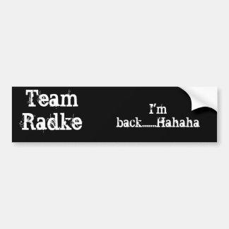 Pegatina para el parachoques de Radke del equipo Pegatina De Parachoque