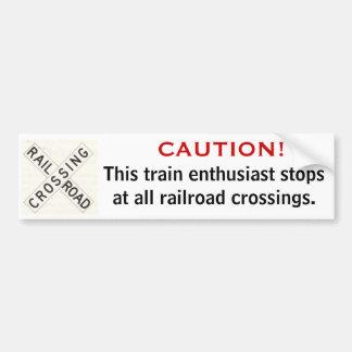 Pegatina para el parachoques de Railfan Pegatina Para Auto