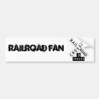 Pegatina para el parachoques de Railfan Pegatina De Parachoque